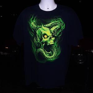 Vintage Skull and Snake Skeleton T shirt sz large